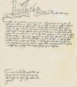 Letters of Elizabeth I
