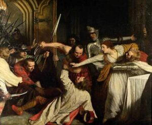 The Murder of Rizzio, by John Opie